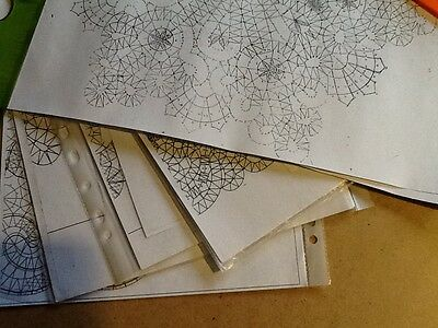 PATTERNS for Vologda Bobbin Lace. 3 snowflake napkins. Full size.
