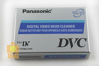 Panasonic AY-DVMCLWW Mini DV HDV Digital Video Head Cleaner Tape Made in Japan