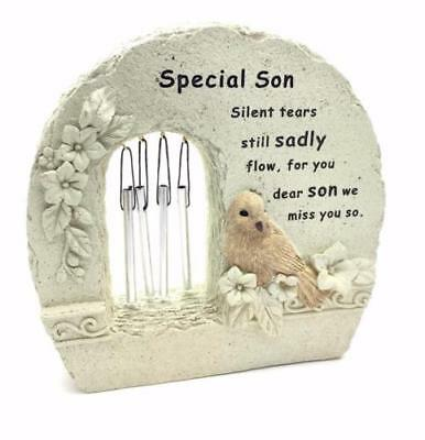 Special Son Windchime Grave Memorial Remembrance Plaque Ornament DF15840H