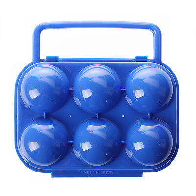 Portable Folding Plastic Egg Carrier Holder Storage Container for 6 Eggs - 13HE
