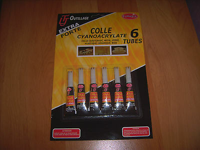 lot 60 x 3g super glue cyanoacryliate adhesive colle forte tout usage colle tout