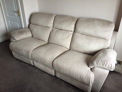three piece suite 3 seater + 2 seater settee all reclining and electric chair