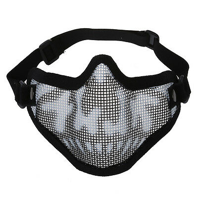 Black Camouflage Airsoft Paintball Hunting Half Face Tactical Mask Mesh X3M 13HE
