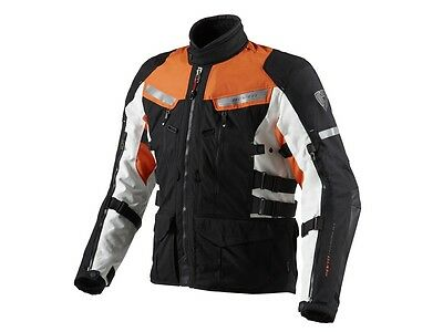 Revit Sand 2 Textiljacke in Black-Orange Gr. M