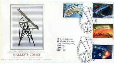 1986 Halley's Comet PPS Sotheby's Collection No. 19 fdc London Planetarium SHS