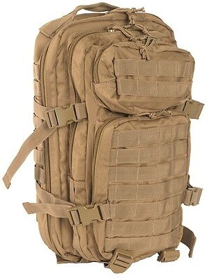 Mil-Tec U.s. Assault Pack Sm Coyote Rucksack Backpack Daypack Army Outdoor Neu