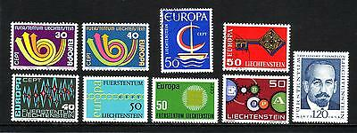 Liechtenstein 1961-1973 Collection of Unmounted Mint (MNH) and VFU Stamps