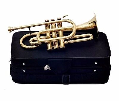NEW YEAR SALE Cornet Colored Professional 3V with Hard Case+Mouth Piece Free