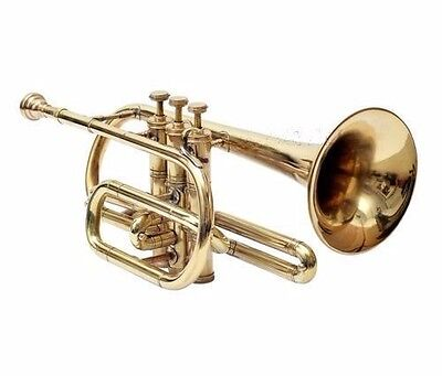 2017 SALE Cornet Shinning Brass Professional 3V with Hard Case +Mouth Piece Free