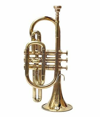 Cornet 2017 SALE Shinning Brass Professional 3V with Hard Case +Mouth Piece Free