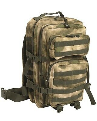 Mil-Tec U.s. Assault Pack Sm A-Tacs Fg Rucksack Daypack Backpack Army Outdoor