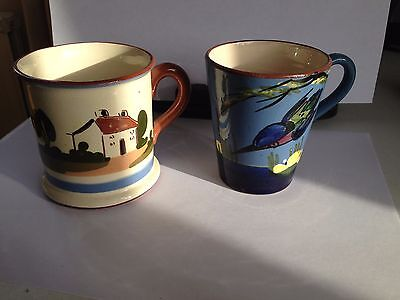 Pair of Torquay Pottery mugs, both in good condition