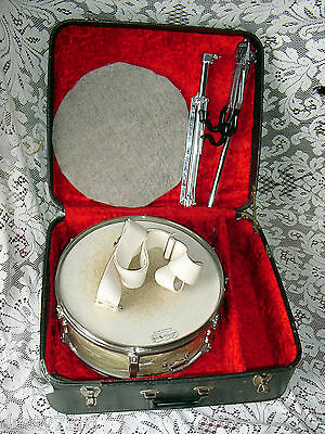 Vintage Ludwig 65 Pioneer Snare WMP WHITE MARINE PEARL Case&WPL Stand Signed