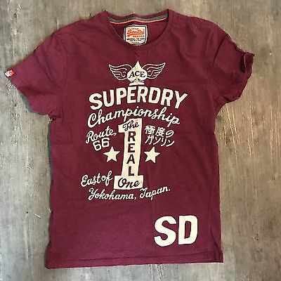 GENUINE Superdry Mens T Shirt Top Size M Medium USED / WORN