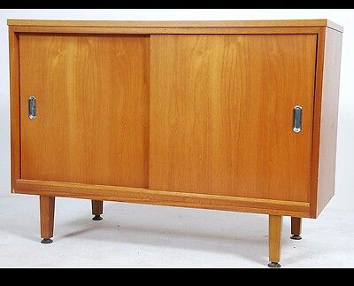 Quality Mid Century Modern Danish 1960 Teak Sideboard Credenza Compact Size