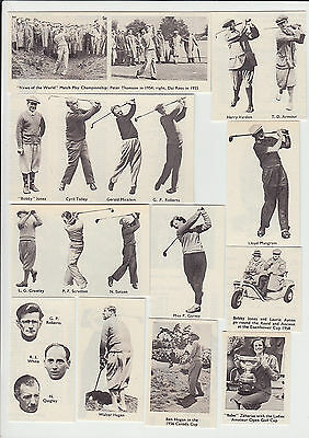 Golf : Famous Golfers : unusual complete sports 'card' set - pictures