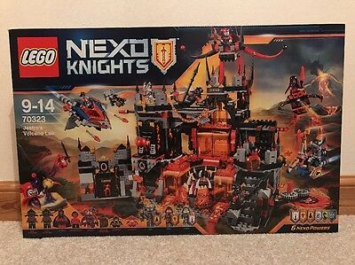 LEGO Nexo Knights Jestro's Volcano Lair Playset (70323). New And Sealed.