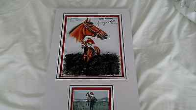 Brian Fletcher & Ginger Maccain Signed Photo  Red Rum Autograph