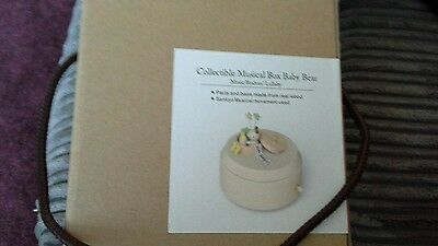 Collectible musical box baby bear new in box