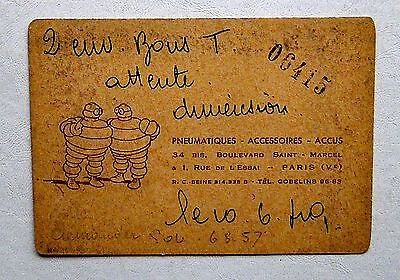 Michelin  Carte De Visite *****1940 ****