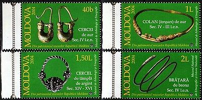 MOLDOVA 2004 Archaeology: Jewelry. Women's Adornments, MNH