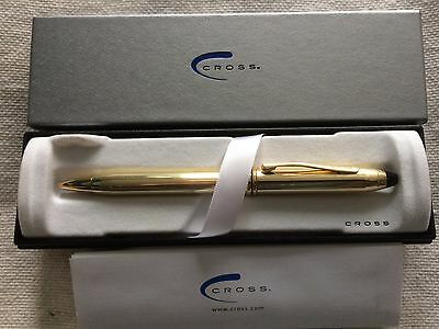 Cross Townsend 10K Rolled Gold / Gold Filled Ballpoint Pen UNUSED