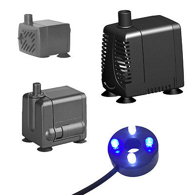 Hidom Submersible Water Pump for Aquarium Fish Tank water Feature Optional LED