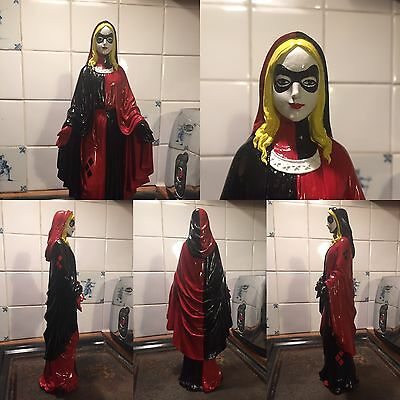 OOAK Harley Quinn Suicide Squad Batman Gotham Virgin Mary Statue Ornament