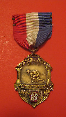 Antique 1923 Pennsylvania Northwestern Railroad 1/2 Mile Track Competition Medal