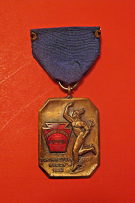 Antique 1922 Pennsylvania Northwestern Railroad Basketball Competition Medal