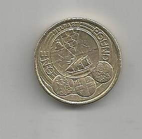 RARE 2010 BELFAST £1 ONE POUND COIN (9th most rare 1 pound coin in circulation)