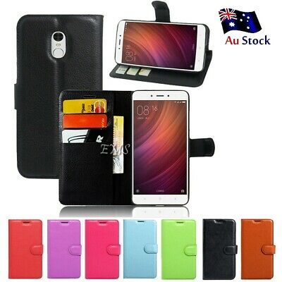 Wallet Leather Flip PU Case Cover For Xiaomi Redmi Note 4 | 4X +Screen Protector