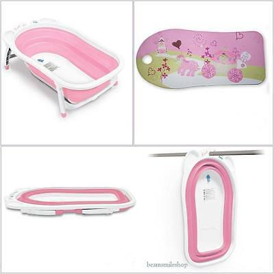 Bath Tub Baby Infant Folding Seat Non Slip Mat Light Pink Storage Home Stand NEW