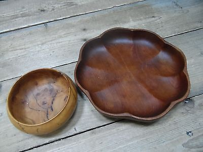 Two Wooden Serving Bowls