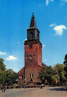 Vintage 1971 Postcard TURKU ABO Suomi FINLAND Cathedral