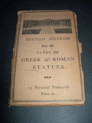 BRITISH MUSEUM Set 48 TYPES of GREEK & ROMAN STATUES Old Pictorial Postcards
