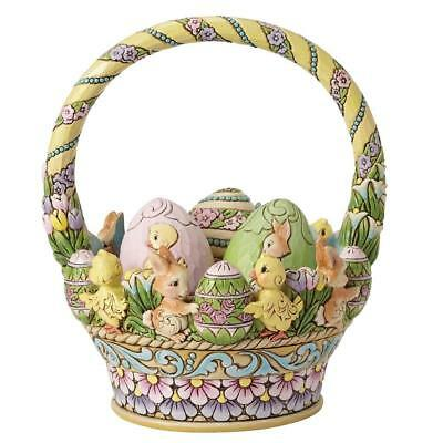 Heartwood Creek Jim Shore 4053697 Tisket A Tasket Easter Basket