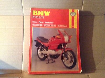 BMW K100 & K75 (987cc and 740cc) 1983 to 1987 Haynes Manual