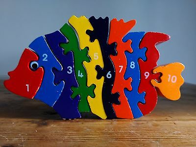 Wooden 1-10 Fish Puzzle