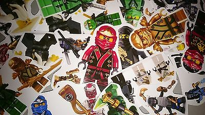 lego ninjago  mini stickers PARTY BAG FILLERS