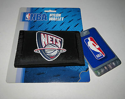 New Jersey Nets Logo Rico Official NBA Licensed Tri-Fold Velcro Nylon Wallet New