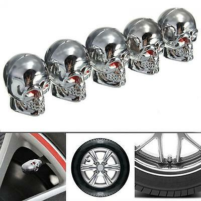 Car Red Eyes Truck Dust Caps Tyre Valve Stem Tire Air