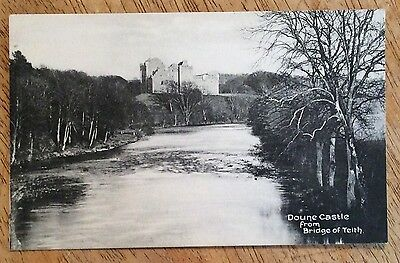 Vintage Postcard - Doune Castle from Bridge of Teith, Stirling, Scotland.