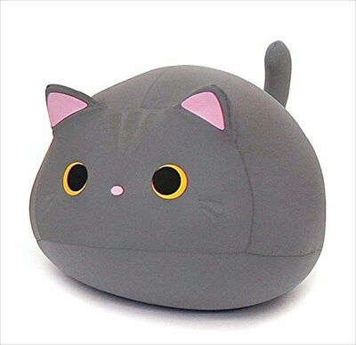 Cushion MOGU Mike Cat Cushion Gray 015559 Japan Plush Toy Stuffed Doll Tracking