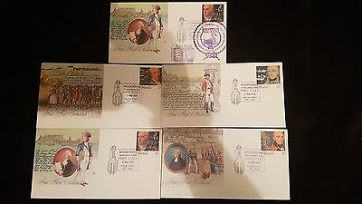 Stamps Australia First Fleet 5 PSE 1988 with one cover SVANEN 82