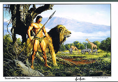 Tarzan and the Golden Lion by Joe Jusko Hand Signed Print