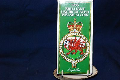 Royal Mint 1985 Brilliant uncirculated Welsh £1 coin