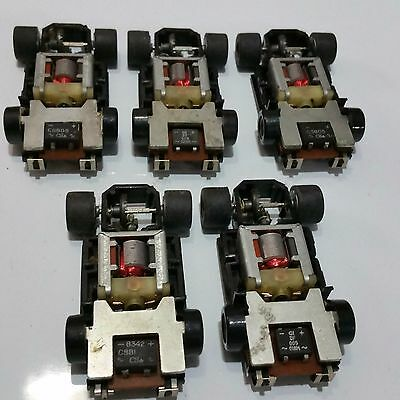 Tyco U Turn Chassis With Weights Complete 5Pcs ! Cool!