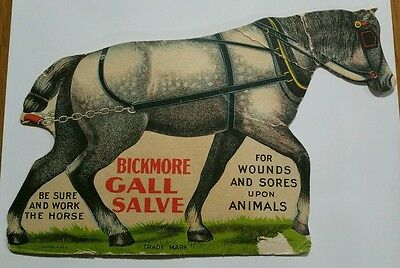 Early Bickmore Gall Salve Die-Cut Sign