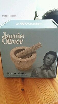 Jamie oliver pestle & mortar solid granite BRAND NEW